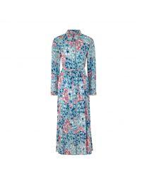 Painted Bluebell Midi Shirt Dress