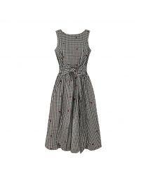 Ladybug Gingham Tie Waist Dress