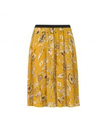 Chintz Flower Knee-length Skirt