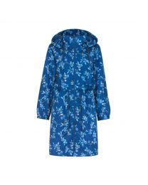 Greenwich Flowers Long Raincoat