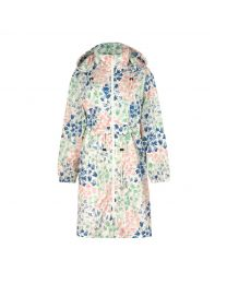 Painted Bluebell Long Raincoat