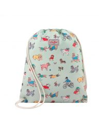 Small Park Dogs Kids Drawstring Bag
