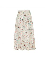 Moomins Mushroom Scenic Button-through Midi Skirt