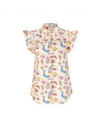 Summer Time Frill Sleeve Shirt