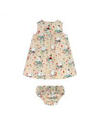 Moomins Mushroom Scenic Baby Eleanor Dress