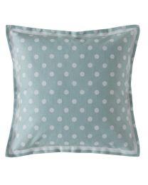 Button Spot Mint Square Cushion