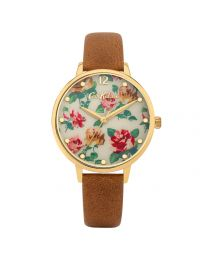 Somerest Rose Tan Leather Watch