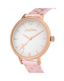 Button Spot Pink Strap Watch