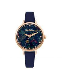 Twilight Garden Navy Leather Watch