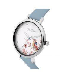 British Bird Blue Leather Watch