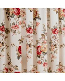 Garden Rose Lined Curtains - 117cm x 229cm