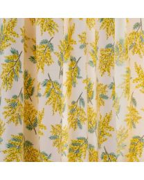 Mimosa Flower Lined Curtains - 117cm x 229cm