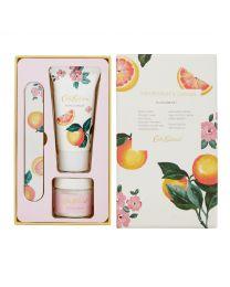 Grapefruit and Ginger Manicure Set (50ml Hand Cream, 33ml Cuticle Cream, Emery Board)