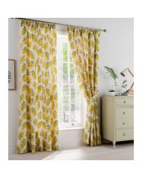 Mimosa Flower Lined Curtains - 168cm x 229cm